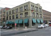 After the 1949 earthquake, the top two stories were lopped off of the Pacific Commercial Building in Seattle's Pioneer Square. This photo was taken after the property last sold in 2007.