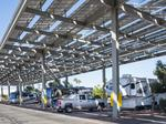 PowerParasol turns on Tucson campground array