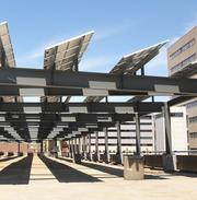 Solar array at Memphis Bioworks Foundation parking garage on Union is one of the city's higher profile installations.