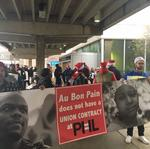 PHL Airport fast-food workers rally for ability to unionize