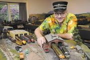 Sted's elaborate model train collection takes an entire downstairs room in his Waialae Iki Ridge home. It's a hobby he has pursued since childhood.