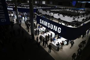 The Samsung Electronics Co. pavilion at the Mobile World Congress in Barcelona, Spain in February.