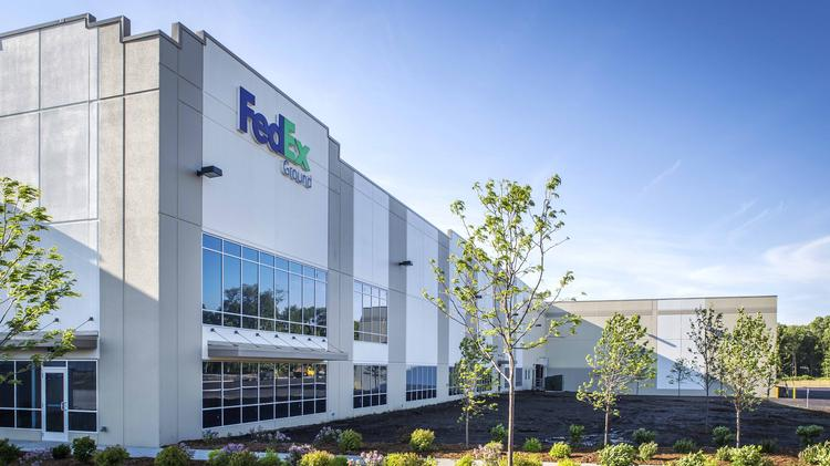 the fedex ground facility in rogers minn that was developed by scannell properties has