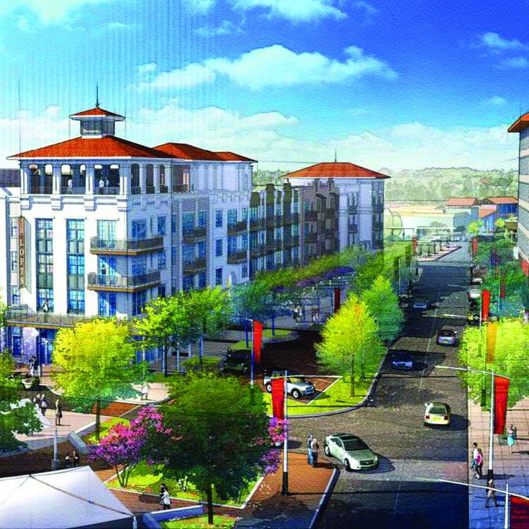 Rendering of The Residences at La Cantera, a USAA Realco project opening this fall.
