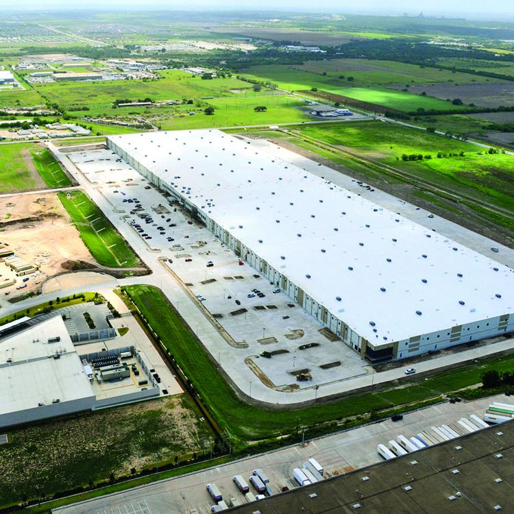 An aerial shot of Amazon.com's planned fulfillment center in Schertz, Texas, just outside of San Antonio.