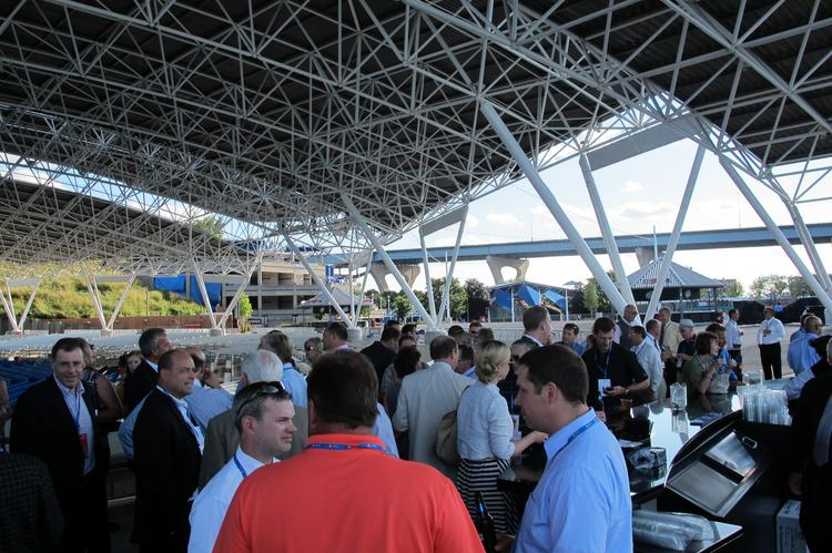 The event was held in the VIP area of the BMO Harris Pavilion on the Summerfest grounds in Milwaukee. BMO Harris was a sponsor.