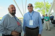 Tom Bernacchi of Zilber Property Group (left) shares a laugh with Wispark LLC president Jerry Franke.