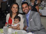 Honoree Ricky Patel, right, of Farrell & Patel, and wife Arti Patel and daughter Maya Patel.