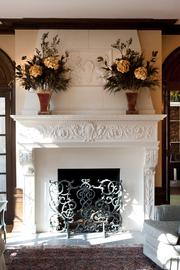 Here is one of the fireplaces on the home.