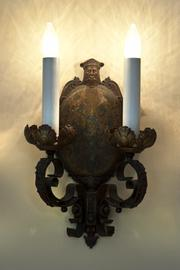 Here is one of the lighting fixtures on the home.