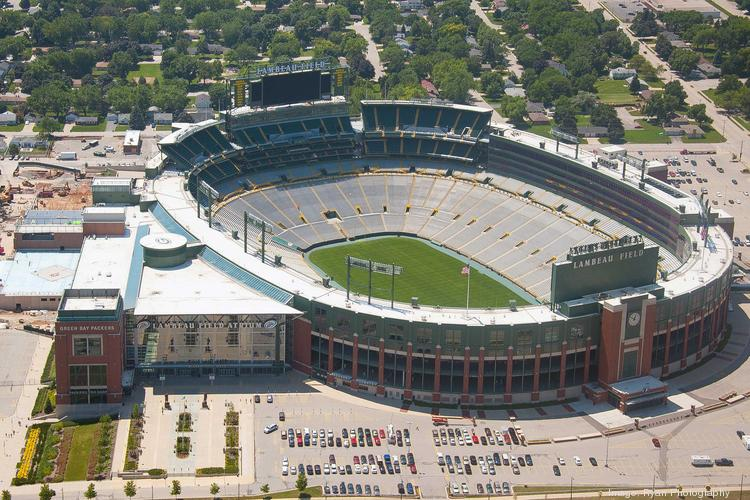 The Green Bay Packers relied heavily on private funding of the recent $146 million expansion of Lambeau Field.