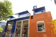 PNC Financial Services Group Inc. debuted its first portable pop-up branch in Atlanta.