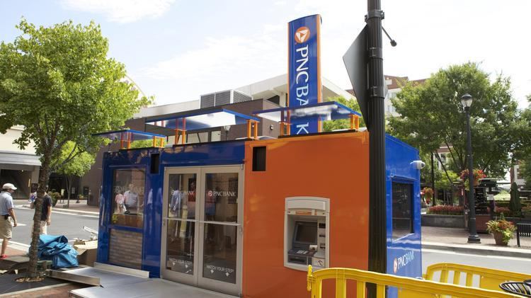 PNC Financial Services Group Inc. is helping to reinvent the bank branch with the popup branch, which are being used in Pittsburgh and Atlanta.