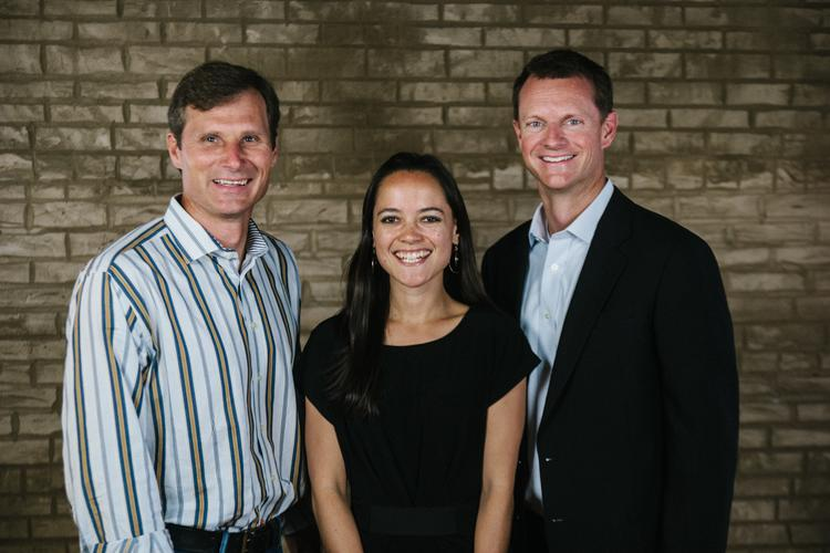 From left: Blood:Water Mission CEO Chris Bolton, President Jena Lee Nardella and Board Chairman Stuart McWhorter