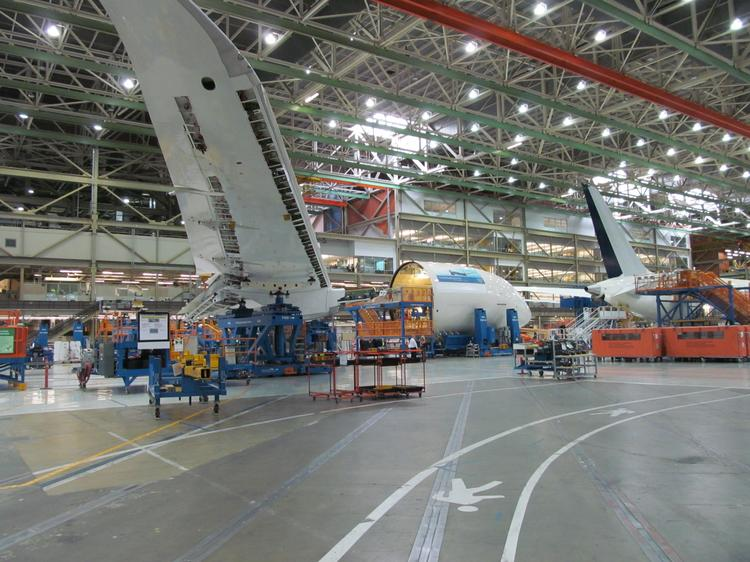 Boeing is depending on the Dreamliner surge line in Everett to help supply more than seven 787s monthly, in order to meet the company goal of 10 Dreamliners a month by the end of 2013.