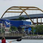 Hoan Bridge crews worked ahead to finish construction above Summerfest grounds