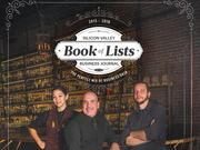 For the cover of our Book of Lists, staff photographer Vicki Thompson posed three Silicon Valley bartenders — Tomoyo Yoshinaga of Haberdasher, Joe Vanotti of Dry Creek Grill and Patrick Braga of Paper Plane — in front of the scene-setting bar at Paper Plane.