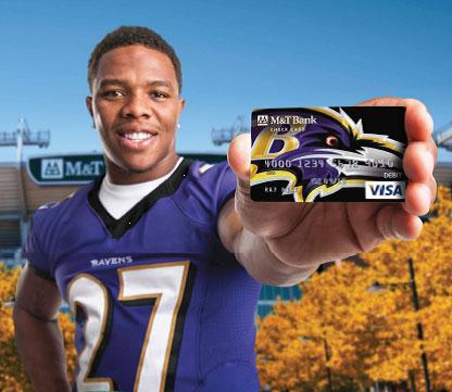 Ray Rice has starred in ads for M&T Bank.