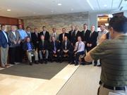 Photographer Jim Carchidi pulls together executives from the area's top commercial building firms for a group shot.