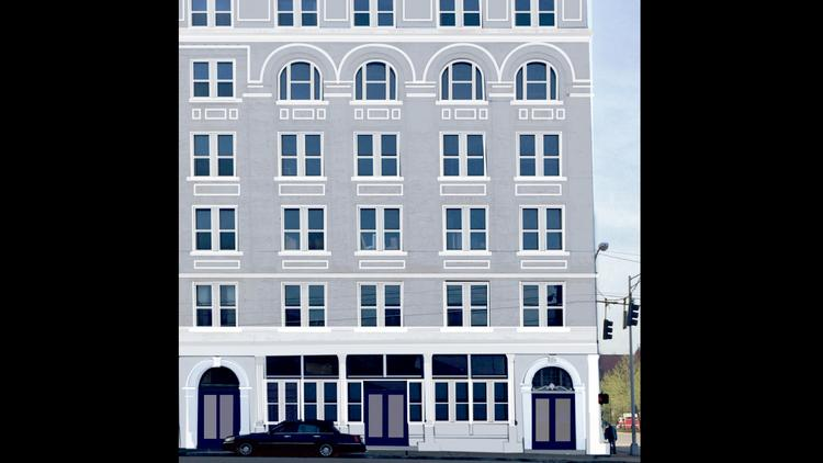A rendering of the renovated Strietmann Building in Over-the-Rhine. The building will have about 88,000 square feet of office space, plus first-floor restaurant and retail space.