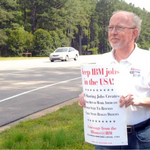 Man seeking to organize IBM workers in RTP — suspends union campaign