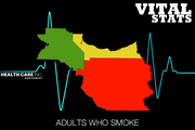 Adults who smoke  This indicator shows the percentage of adults who currently smoke cigarettes.  #1. Washington: 12.9 percent #2. Multnomah: 15.3 percent #3. Clackamas: 15.4 percent