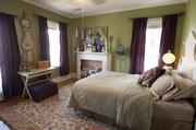 This is one of the three bedrooms on second floor of the Carricos' home.