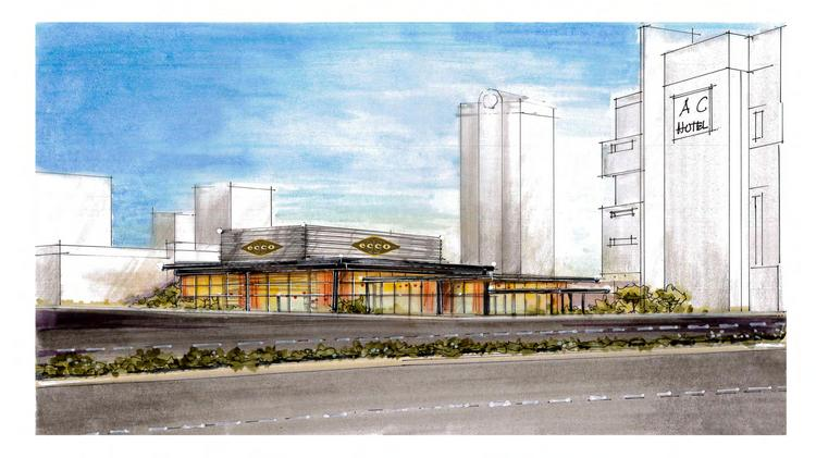 A Rendering Of The New Ecco Restaurant Planned Next To Phipps Plaza Mall