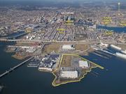 Sagamore Development officials are seeking $535 million from the city in TIF investment for infrastructure at Port Covington. The project is expected to be built out over 25 years. Under Armour's campus will be inside the yellow border.