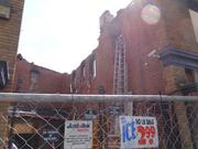 A court between the two Frager's hardware buildings. The fire devastated the 1100 block of Pennsylvania Avenue SE.
