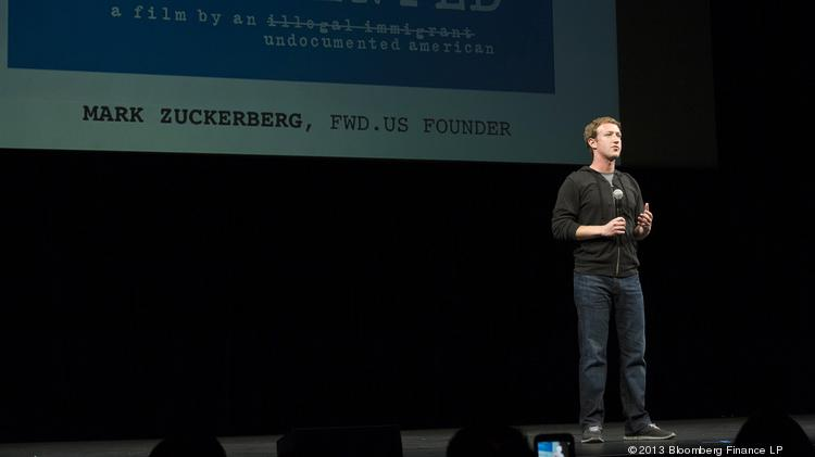 Mark Zuckerberg, chief executive officer of Facebook Inc., has risen in the ranks of top billionaires to No. 4 in a Bloomberg list. Photographer: David Paul Morris/Bloomberg