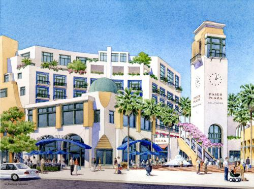 Rendering of Paseo Plaza Hollywood.