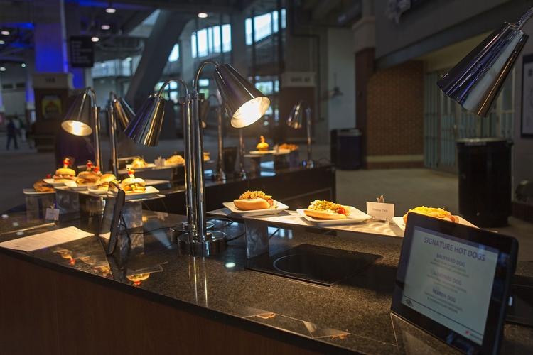 The Ravens unveiled on Tuesday $24 million in upgrades to M&T Bank Stadium. Along with concessionaire Aramark, the team also previewed new menu items for fans this season. Scroll the images to get your taste buds going.