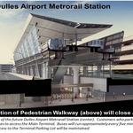 Silver Line construction temporarily shutting down popular walkway at Dulles