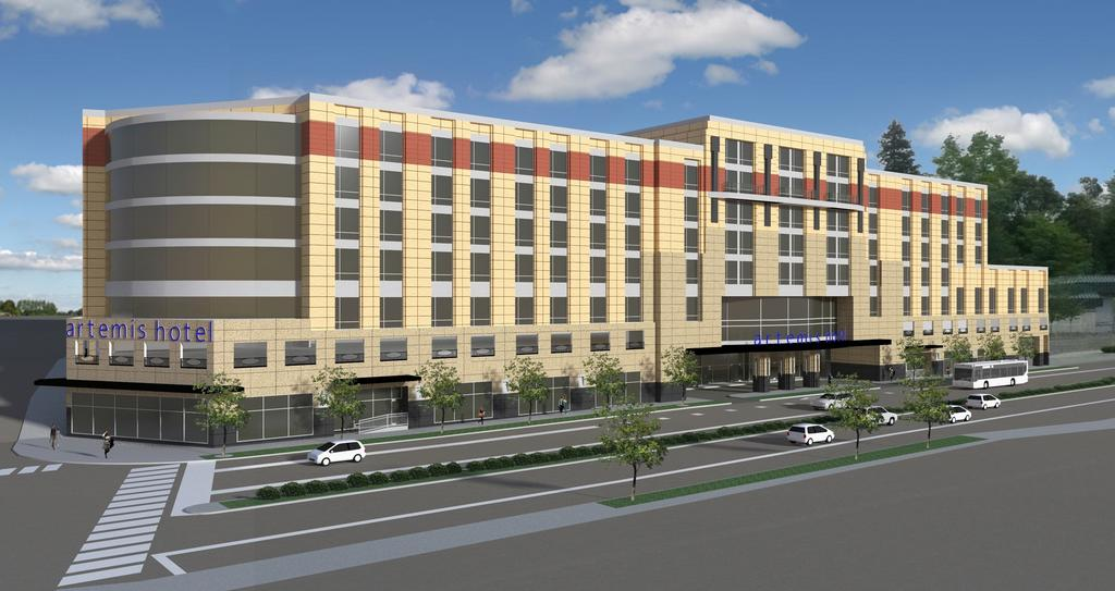 A Rendering Shows The Artemis Hotel Now Under Construction In An Unlikely Area Along Pacific