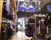 Four Ravens team stores on the lower level of M&T Bank Stadium have been refurbished.