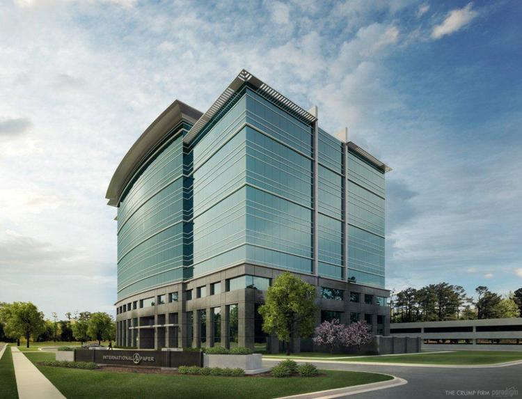 A rendering of the new International Paper tower in East Memphis.