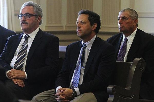 Zygi Wilf, Mark Wilf, and Leonard Wilf in court. An investigation into the Wilf family's finances will be made public Friday.