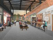 The redevelopment project would create a pedestrian walkway from Main and Elm streets.