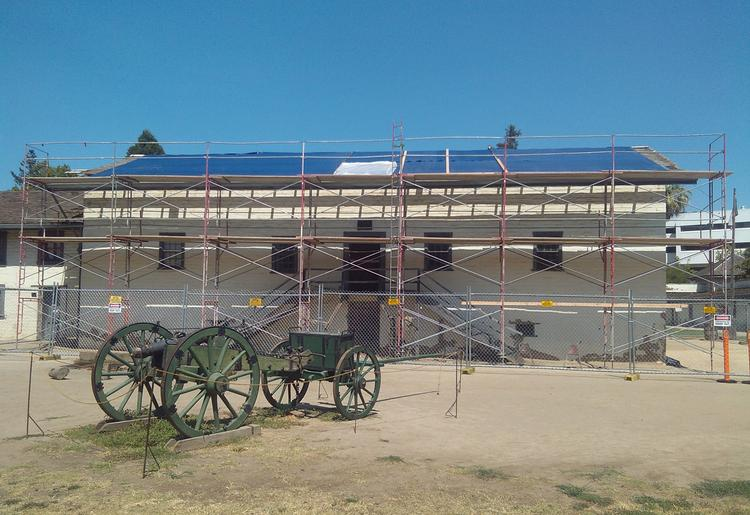 "The 6,500-square foot ""Casa Grande"" main building inside Sutter's Fort State Historic Park is  getting a new roof and a seismic stabilization."