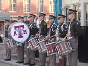 Members of The Fightin' Texas Aggie Band at Saengerfest Park Tuesday night