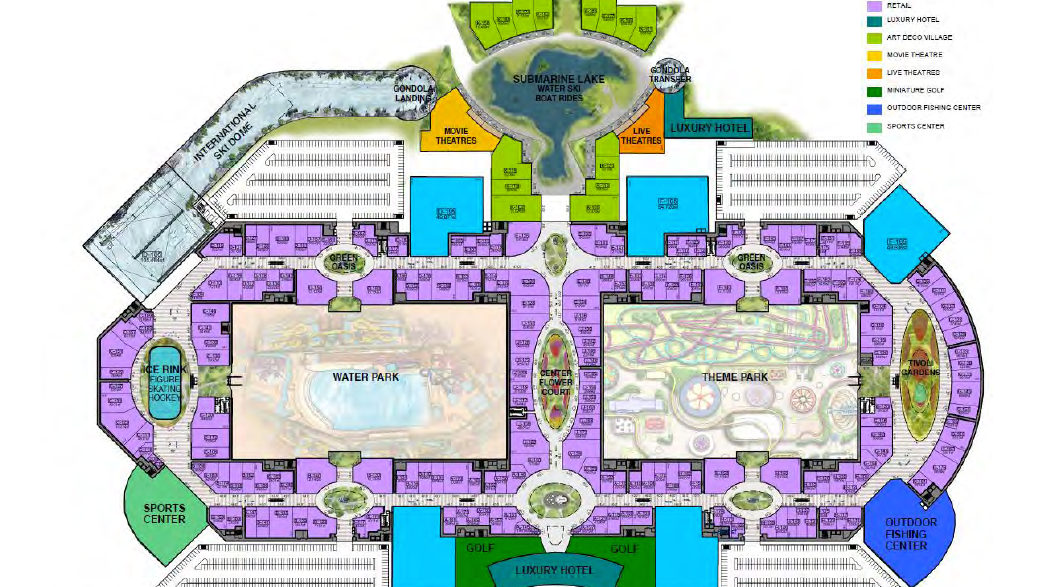 American Dream Miami mega mall's floor plan - South Florida Business Journal