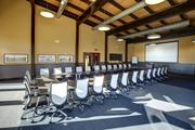 This room in the Gheens Foundation Lodge at The Parklands is used for meetings and conferences.