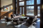 This Gheens Foundation Lodge also has comfortable spaces to enjoy the views of the park.