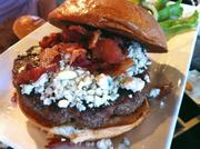 Daft Burger's cheese choices include Gorgonzola.