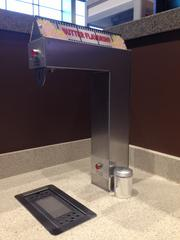 Here's one of the self-serve butter stations for popcorn.