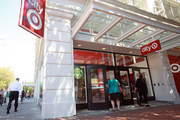 Shoppers visit the Galleria, home to Portland's new City Target.
