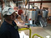 Andrew Maxwell, an owner and head brewmaster at Rivertowne Brewing Co., overseeing $3 million worth of brewing equipment.