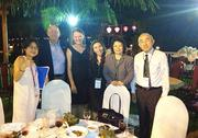 The PSU-Business Oregon team attended the Green Growth Investment Forum in Vietnam's Quang Nam Province where they were the only U.S. delegation. From left, a representative from UN Habitat, PSU's Marcus Ingle, PSU's Ashley Hollenbeck, PSU's Julia Babcock, Business Oregon's Sunun Setboonsarng and an investor from Singapore.