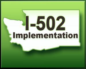 This logo on the Washington State Liquor Control Board's website links to information on regulations for marijuana businesses that are legal under Initiative 502.